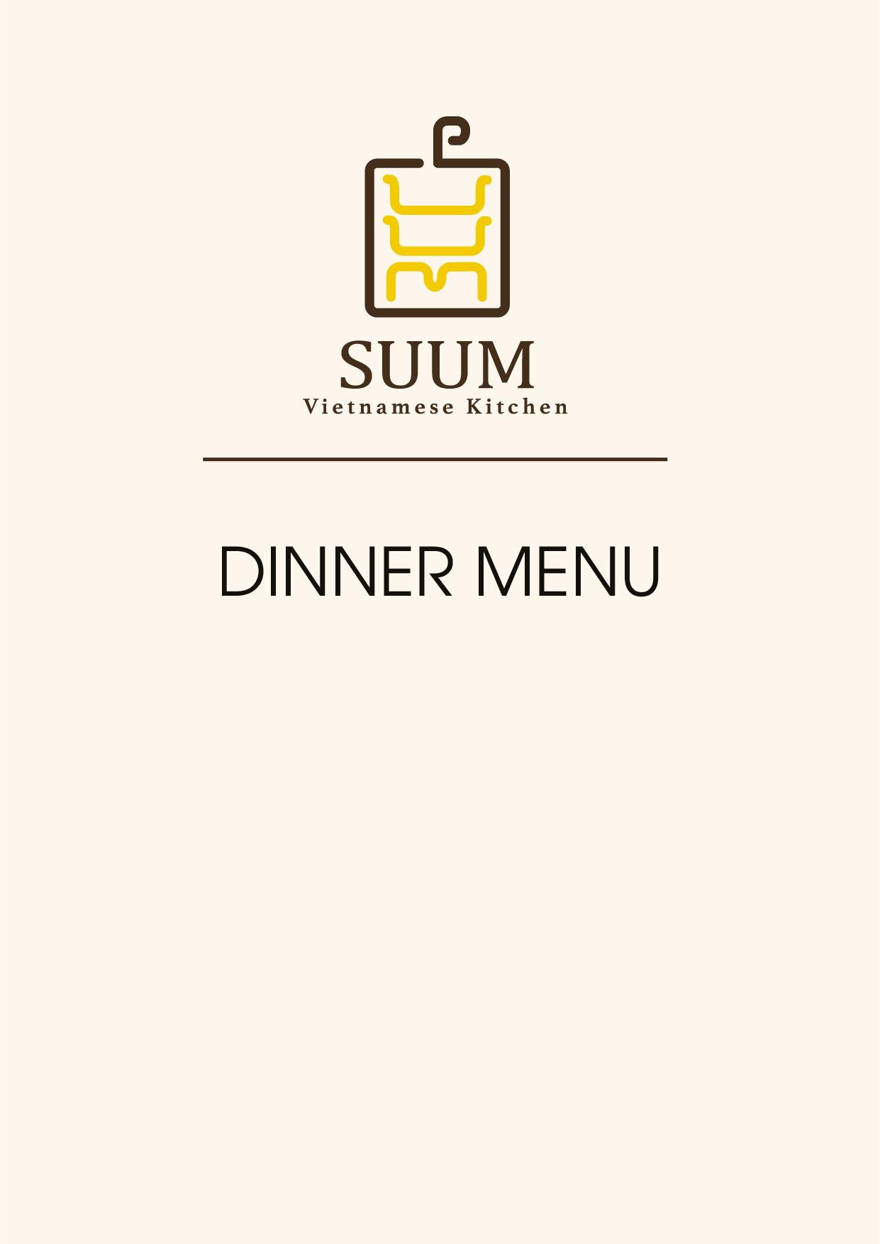 Suum Dinner Menu Suum Vietnamese Kitchen